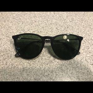 Rayban Erika sunglasses polarized w/ green lenses